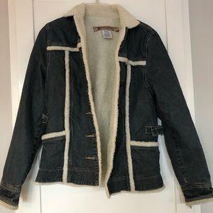 Billabong Denim and Sherpa Lined Jacket | Medium